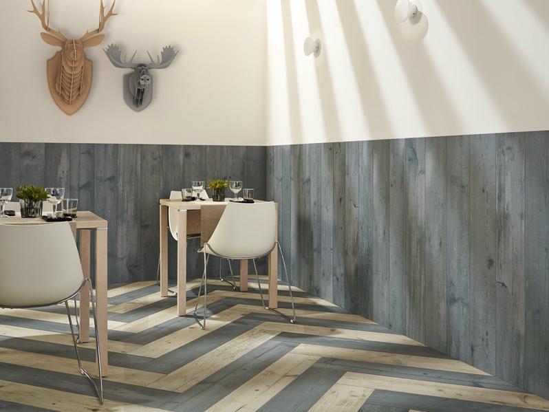 Alicatado imitación madera para habitaciones