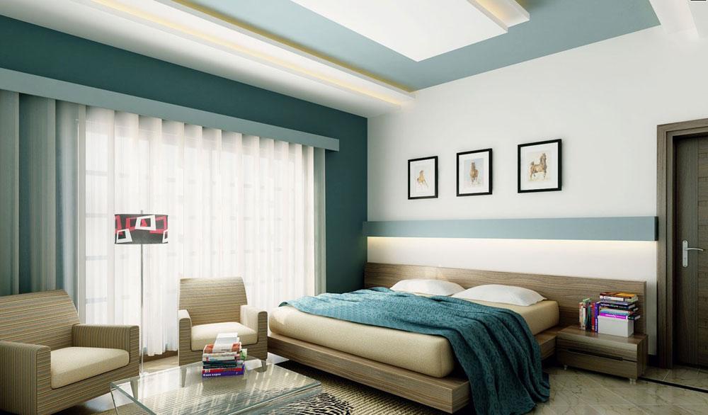 Reforma de habitación con pintura en techo